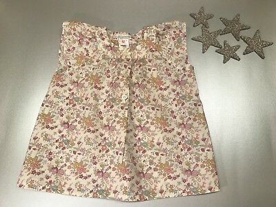 Bonpoint Baby Girl Liberty Print Top Blouse 12 Months