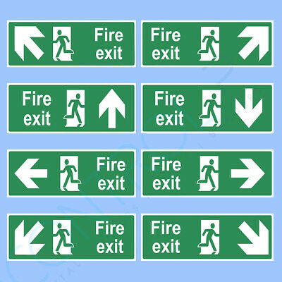 Fire Exit Safety Sign Sticker 300mm x 100mm Unbeaten Price And Quality