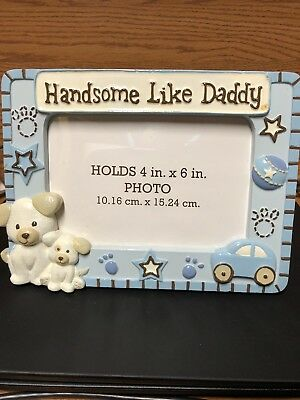 Handsome Like Daddy 4x6 Baby Boy Picture Frame