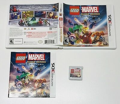 LEGO Marvel Super Heroes - Universe in Peril (Nintendo 3DS, 2013) COMPLETE!