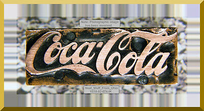 Coca Cola, Scripted Company Logo, Letterpress Printer's Block - Rare / Unusual