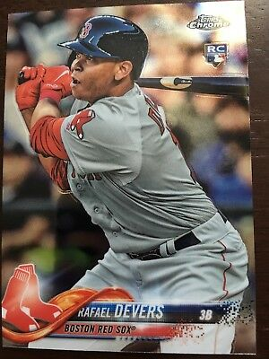 2018 Topps Chrome Rafael Devers Rookie Card Boston Red Sox
