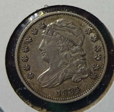 1834 Small 4 Capped Bust Dime