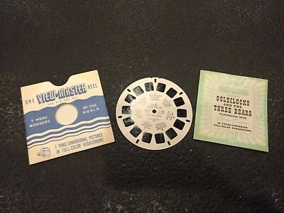 1946 Goldilocks and the Three Bears Sawyer's View-Master Reel FT-6 With Booklet