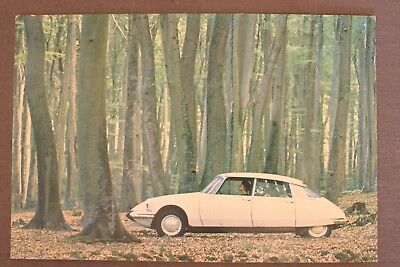 Rare Vintage Early 1960's Citroen DS 19 Original Postcard, Printed In France