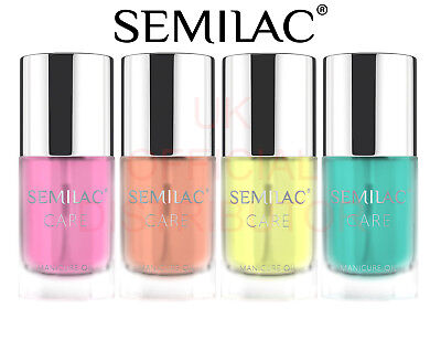 New Semilac Cuticle Manicure Oil - Coconut, Lemon, Peach, Pineapple 7ml - SALE