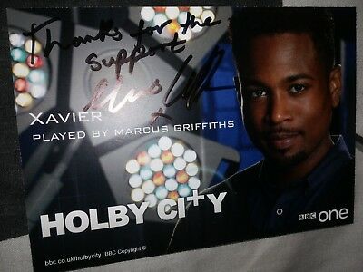 Marcus Griffiths (Holby City) Signed New Cast Card