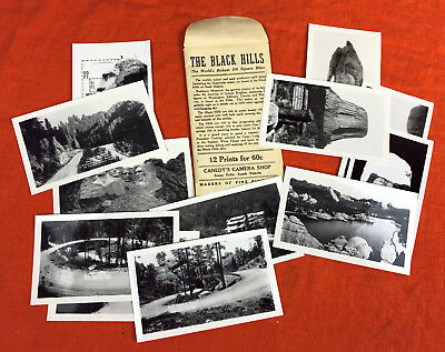 BLACK HILLS PHOTOS CANNEDY'S CAMERA SHOP SIOUX FALLS SOUTH DAKOTA c1940