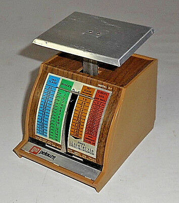 RARE VINTAGE Pelouze Postage Scale X-1 16 oz EUROPE ASIA AIR MAIL MAY 29, 1978
