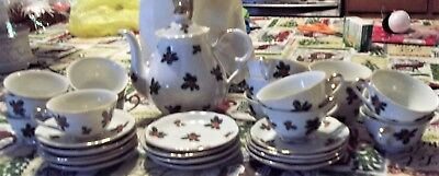 Lefton China Ivy and Berries Christmas Tea set- 32 pieces