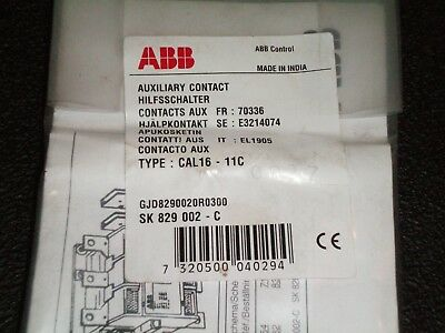ABB CAL16-11C -  Auxiliary Contact -  New in Factory Sealed Bag