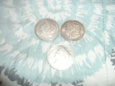 Lot Of Three Silver Dollars