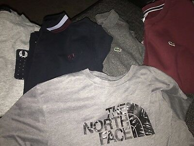 boys clothes bundle age 16 , lacoste, fred perry, north-face