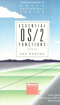 Microsoft Press: Essential OS/2 Functions by Ray Duncan softcover book