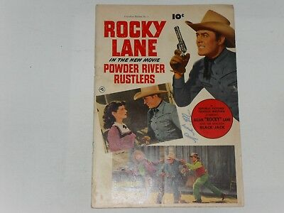 Powder River Rustlers  #1  1950   Canadian Edition  One Shot   Writing On Cover