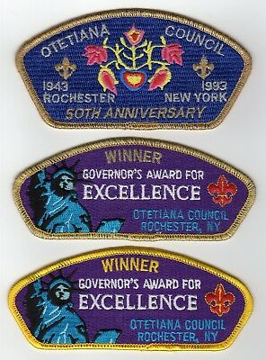 Boy Scout CSP (3) different Special CSP's from merged Otetiana Council, NY