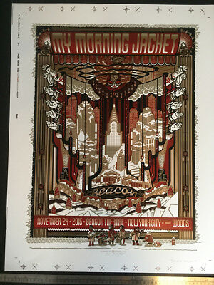 My Morning Jacket Beacon Theater NYC 2015 Guy Burwell Poster Double Gold Test
