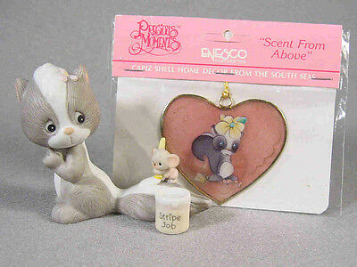 Precious Moments Enesco Skunk Figurine and Capiz