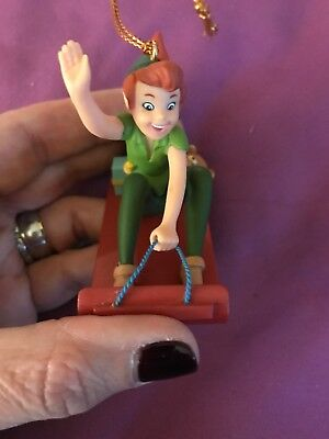 Disney Grolier Peter Pan Christmas Ornament Sled Gifts Presents