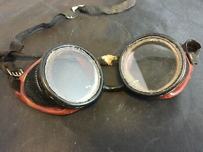 1920S American Optical Ao Ful-Vue Steam Punk Motorcycle Aviator Bakelite Goggles