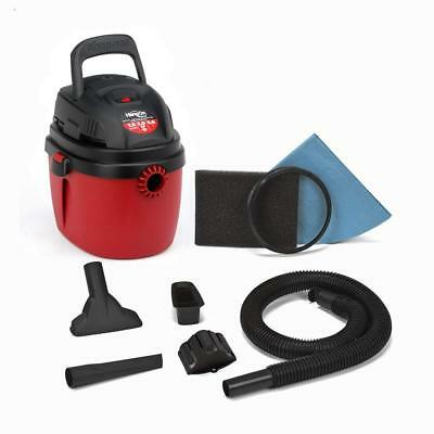 Shop-Vac 2030138 1.5-Gallon 2.0 Peak HP Wet Dry Vacuum, Small, Red/Black