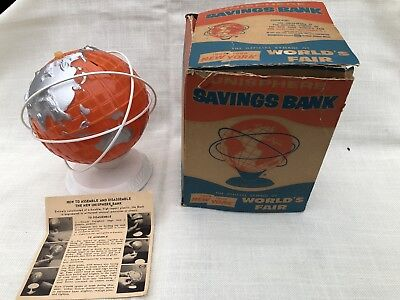 1964 1965 New York Worlds Fair Plastic Bank With Box