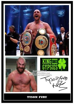 250. tyson fury boxing signed a4 print great gift