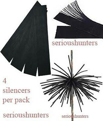 New 4 Circut Rubber String Silencers Whiskers Dampeners For Compound Recurve Bow