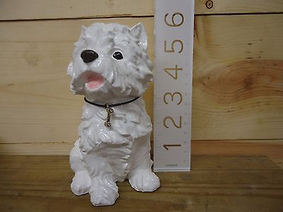 West Highland Terrier Westie White Hand Poured Hand Painted Hand Made Collar