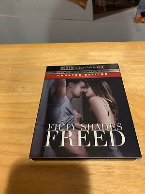 Fifty Shades Freed 4K Ultra HD Blu-ray NO Digital Rare Slipcover Unrated Edition