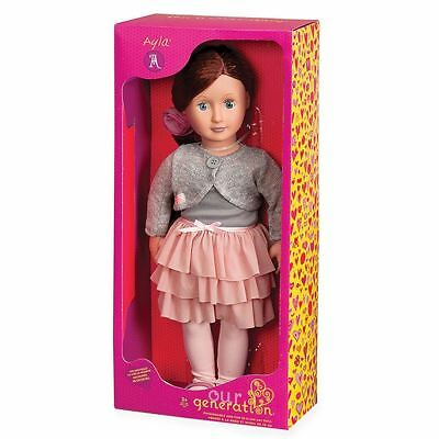 Our Generation Ayla Doll 18 inch  Pink Tutu Skirt Outfit