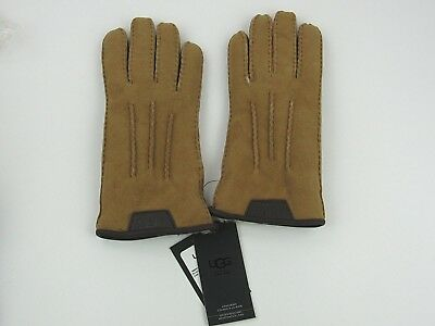 Ugg Men's Casual Gloves With Leather Logo Chestnut Nwt Size Medium 1090073
