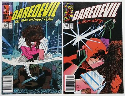 DAREDEVIL #255 and #256, Marvel, (1988) TYPHOID MARY