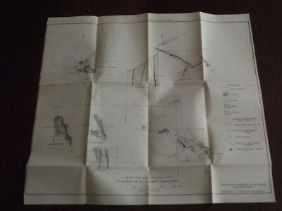1944 Maps & Geological Sections - Adamson Mine, California Lower Workings