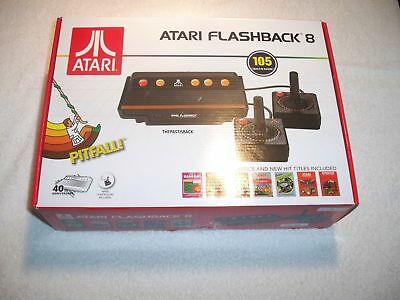 Atari Flashback 8 Game Console Retro 100+ Built in GAMES With 2 Controllers!