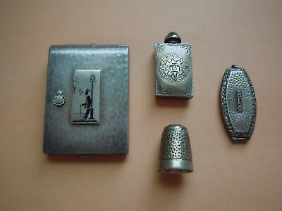 Antique Lot Of 4 Sterling Silver Items