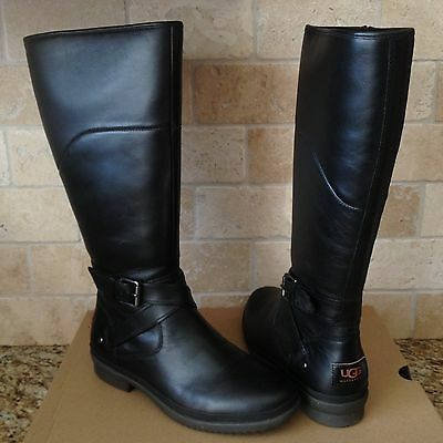 8229c6f54bd UGG EVANNA STOUT Tall Waterproof Leather Rain Snow Boots Size Us 9.5 ...
