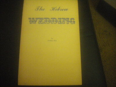 The Hebrew Wedding by JAMES NYE Jewish pamphlet