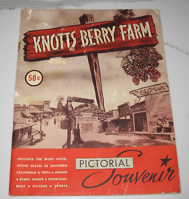 Rare Knotts Berry Farm Ghost Town Pictorial Souvenir Booklet Sold for $.50