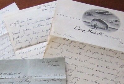 17th AIR AIRBORNE Patch, 517th Para Inf. WWII letter lot, S France content, WW2