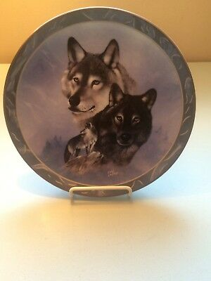 "Bradford Exchange Wolf ""Midnight Royalty"" Collective Plate by Eddie LePage"