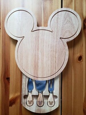 Disney Wooden Cheese Board and Tool Set