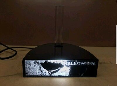 2018 Halloween Michael Myers mask stand with LED lighting/black glossy finish 🎃
