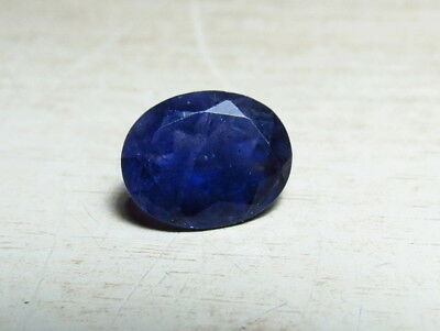 10x8mm NATURAL IOLITE OVAL CUT faceted LOOSE GEMSTONE   cut  from natural rough