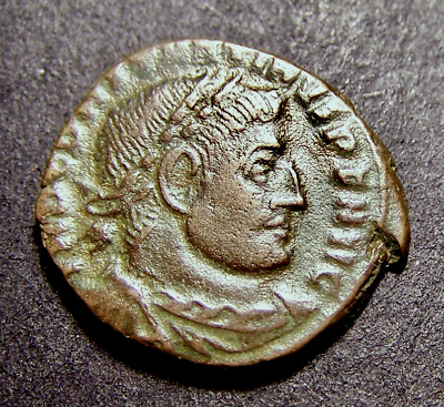 CONSTANTINE I, Radiate Sun Worship, Winter Solstice, Rome, Imperial Roman Coin