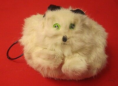 VINTAGE 1940s WHITE BUNNY FUR CHILDS MUFF
