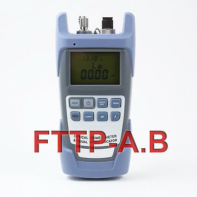 All-in-One Fiber Optical Power Meter and 1-5km 1mW Visual Fault Locator 2-in-1