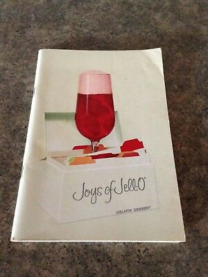 Vintage 1960's Joys of Jell-O Gelatin Dessert Cookbook - General Foods  95 pages