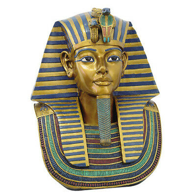 18.75 Inch Egyptian King Tut Head and Bust Resin Statue Figurine