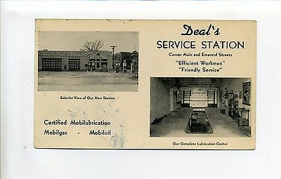 Ad, Deal's Service Station, Mobil Gas, exterior, interior views, Keene NH?